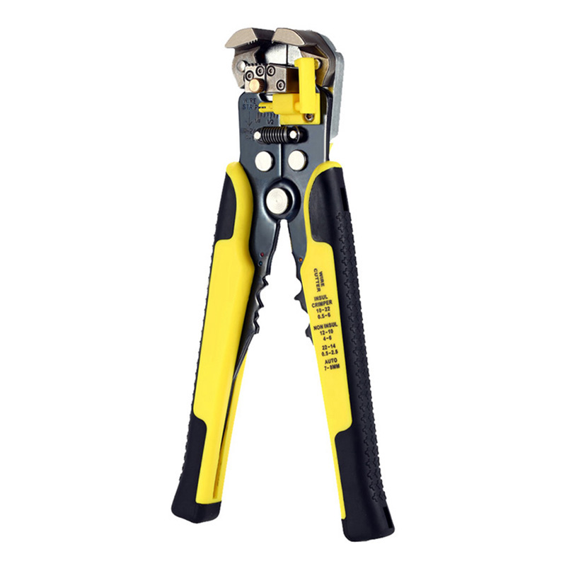 1xMulti-functional Cable Wire Stripper Cutter Crimper Cutting Pliers Handle Tool
