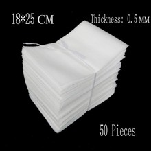 18*25cm 50Pcs 0.5mm White EPE Foam Bags Epee Foam Packing Material Eva Foam Board Insulation Packing Wrap Verpakking Espuma