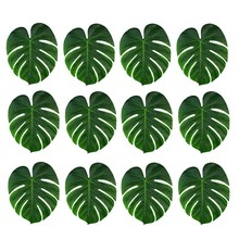 12pcs Artificial Tropical Palm Leaves for Hawaii Luau Party Decorations Beach Theme Wedding Table Decoration Accessories(China)