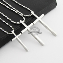 Immanuel Cross pendant necklace titanium steel stainless steel fashion vintage men necklace high quality