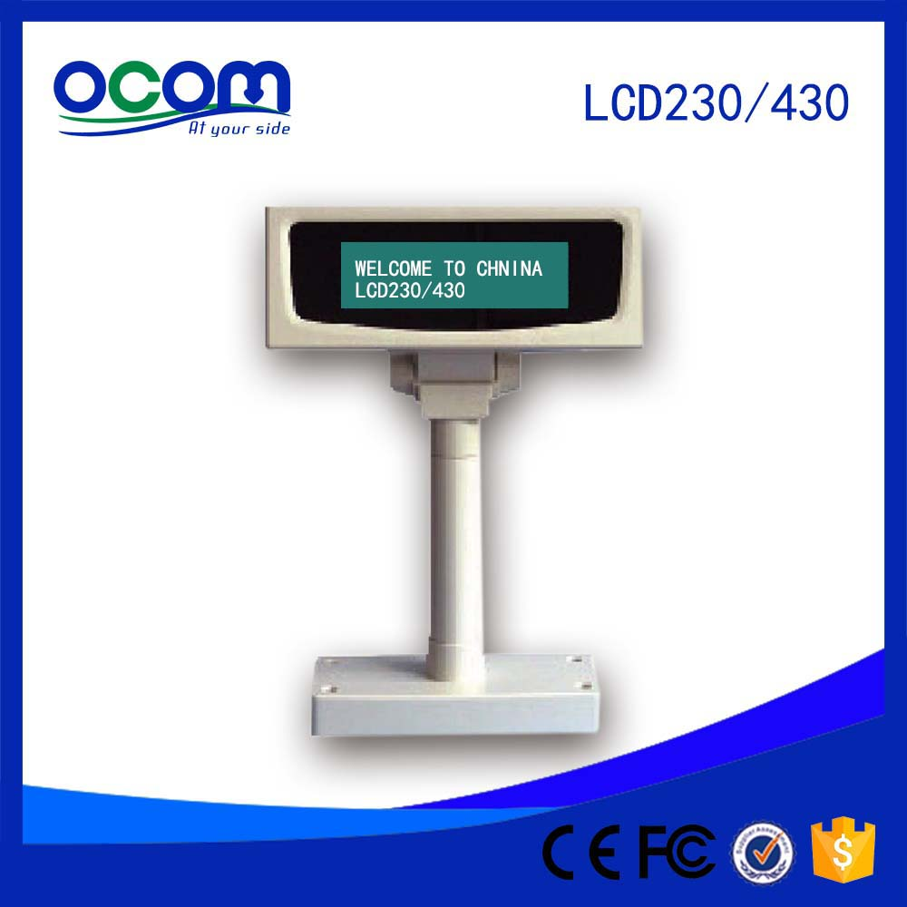 Best Height Adjustable Serial USB Port Optional Price Display Screen POS LCD Customer Display for Restaurant<br><br>Aliexpress