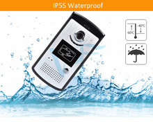 Wireless Waterproof Video Door Phone Wifi Video Doorbell Intercom System with ID Keyfobs Support iOS and Android VF-DB03(China)