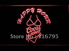626 Coors Light Bikini Happy Hour Beer LED Neon Sign(China)