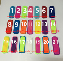 DHL 500pcs/lot  Popsicle Holders Pop Ice Sleeves Freezer Pop Holders 21 Colors for Kids 8x16cm