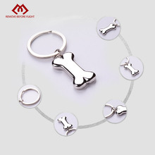 Wholesale Brand New Fashion Key Chain Dog Bones Shaped Keychain Creative Christmas Gifts Key Chains for llavero 10 PCS/LOT