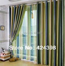 Morden Luxury  stripe curtain For living room/bedroom set of curtains sunscreen  fabric cortinas curtain finished product