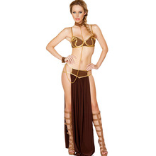 FGirl Cosplay Costume Sexy Halloween Costumes for Women One Size Deluxe Space Slave costume FG30887(China)