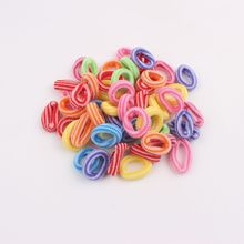 2017 new 50pcs/lot hair accessories for kids girls headband baby hair rope elastic ponytail holders mix color bands children