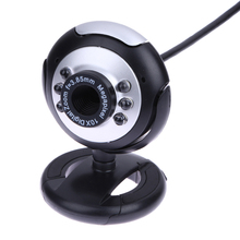 0.5 Mega Pixels 50M 6 LED USB Webcam Camera with Mic for PC Laptop Computer