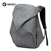 YESO Laptop Backpack Men Asymmetrical Travel Bags 2017 New Brand Multifunction Polyester School Bags Men Backpack For Teenage