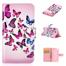 Fundas Case For Apple iPod Touch 5 Leather Cover Cute Heart Deer Pattern Phone Case Wallet Style For iPod Touch 5 Cover