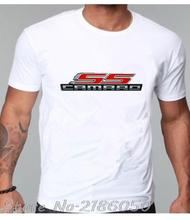 Fashion Casual T-shirts Camaro SS Logo Shirts Chevrolet Chevy Men 100% Cotton High Quality O-neck t shirt Tees top