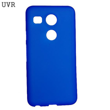 UVR TPU Silicone Gel Cover For LG Nexus 5X Case Matte Soft Cell Phone Protective For LG Nexus 5X Cover Mobile Phone Cases(China)