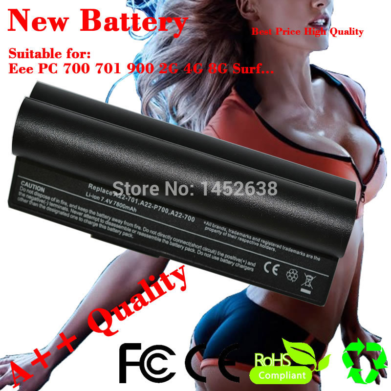 JIGU 6600mAh 90-OA001B1100 A22-700 A22-P701 A23-P701 P22-900 Laptop Battery For Asus Eee PC 4G 8G 700 701 900 2G 4G Surf(China (Mainland))