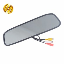"Car Monitor 4.3"" Screen For Car Rear View Reverse Camera TFT LCD Rear view Mirror Display 4.3 Inch Color HD(China)"