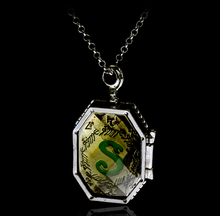 Fashion Jewelry Charm HP Horcrux Locket Glass Box Locket Necklace Double Side Letter Pendants Necklaces Chain Best Gift For Fans(China)