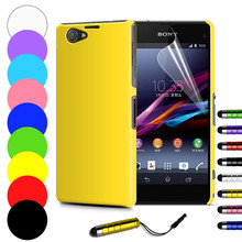 Slim Hard Back Case for Sony Xperia Z1 Compact Z1 mini M51W Z3 Compact Z3 Mini Cover Skin Tempered Glass