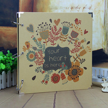 16 inch Photo Album Wedding Photos Children Family Memory Record Scrapbooking Album Sticky Type Lovers Birthday Gift A41(China)