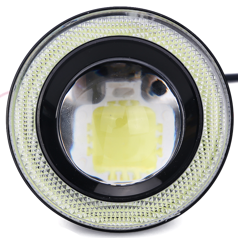 2PCS Car Cob Led Angel Eyes Fog Light Lens Projector Led Halo Ring Waterproof Xenon White Blue Fog Lamp 12V SUV ATV Off Road<br>