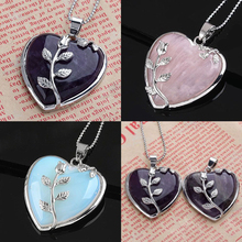 Fashion Zircon Crystal Pendant Necklace Silver Plated Rose Flower Jewelry For Women Love Heart Long Chain Necklace Fine Jewelry