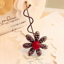 1PC New Fashion Women Lady Girls Full Drill Rabbit Ears Butterfly Sun Flower Bow Hairpin Twist Hair Clip Hair Accessories
