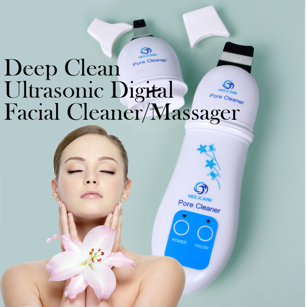 Pore Cleaner Facial Cleaner Facial Massage Ultrasonic Digital Massager Skin Care for Adult for Beauty<br>