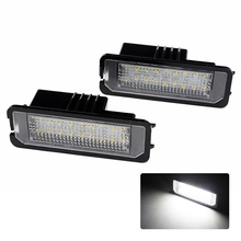 2X Canbus Car LED License Plate Lights Lamp 12V No Error White 6000k for SEAT Altea Exeo/ST Ibiza Leon(China)