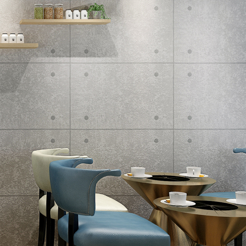 Modern Simple 3D Wallpaper Grey Cement PVC Waterproof Wall Paper For Walls Cafe Restaurant Living Room Background Wall Covering<br>