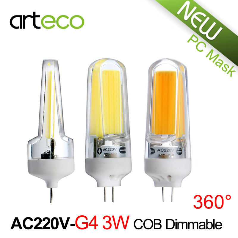 New Mini G4 LED Lamp 3W COB Dimmable LED Bulb 300LM AC220V LED Spotlight Replace Halogen Lamp Chandelier Crystal Light<br><br>Aliexpress