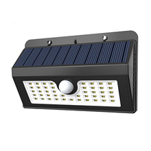 45 LED Solar Power Lamp PIR Motion Sensor Solar Light Outdoor Garden Wall Waterproof Light with Three Intelligent Modes(China)