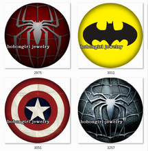 SN1342 Superhero LOGO Snap button Jewelry Charm Popper for Snap Jewelry  good quality  BLOOM