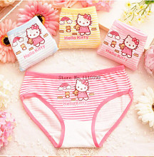1PC Promotional discounts hello kitty Panties baby girls underwear shorts kids briefs wholesale cartoon panties for girls(China)