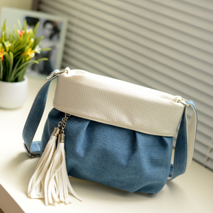 Hot!! Casual Jeans Tassel Women Messenger Bag Fringe Small Canvas Crossbody Bag Women Bag Blue Handbags Shoulder Satchel<br><br>Aliexpress