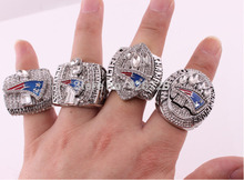 Wholesale Free Shipping 2001 2003 2004 2014 New England Patriots Super Bowl Football Championship Ring Set Size 8-14(China)