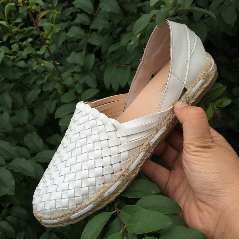Leather loafers women slip on shoes flat 2017 fashion casual driving shoes woman brand flats handmade straw braid ladies shoes<br><br>Aliexpress