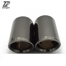 ZD 1Pair Car Stainless steel Exhaust Tip Muffler Pipe Cover For Audi A3 A5 Q5 Q7 Q3 A1 S line For Audi A4 B8 A6 C6 Accessories
