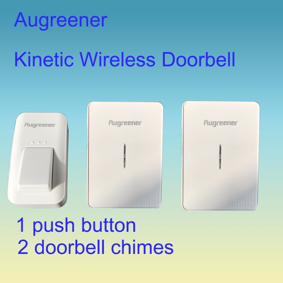 1 Button 2 Door Bell Chime Remote Control Cordless Doorbell Waterproof No Battery Required Button Bell Wireless EU/UK /US Plug<br>