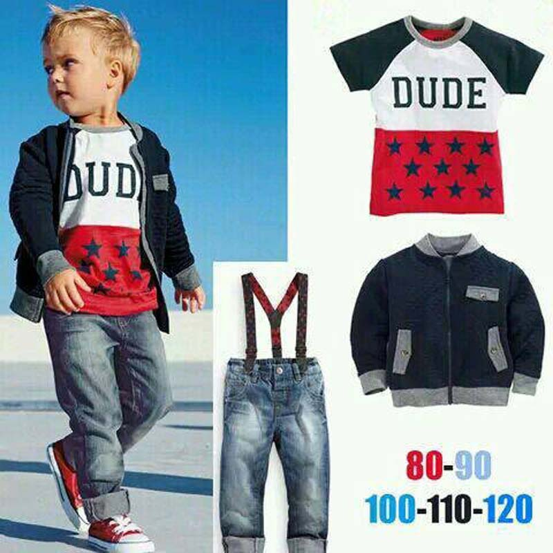 Fashion Style Jacket Suit Children Clothing 2017 New Brand Kids Clothes Boys Clothes Sets Toddler Outfits roupas infantis<br><br>Aliexpress