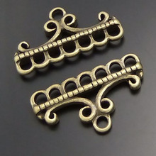 40PCS Antique Bronze Clothes Stand Retro  Charm Connector Finding jewelry Accessory  23*10MM