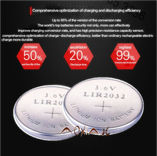 High quality NEW 10PCSX LIR2032 3.6V button cell battery LIR2032 rechargeable battery can replace the CR2032 battery