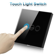 UK WIFI smart home wireless remote control touch switch,automation wall LED smart touch screen light switch