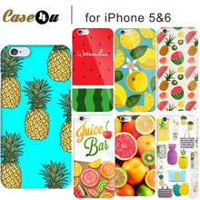 Lovely Fruit Strawberry Watermelon Hard PC Case For Coque iPhone 7 7 Plus 5 5s SE 6 6s Phone Covers Orange Pineapple Accessories(China)