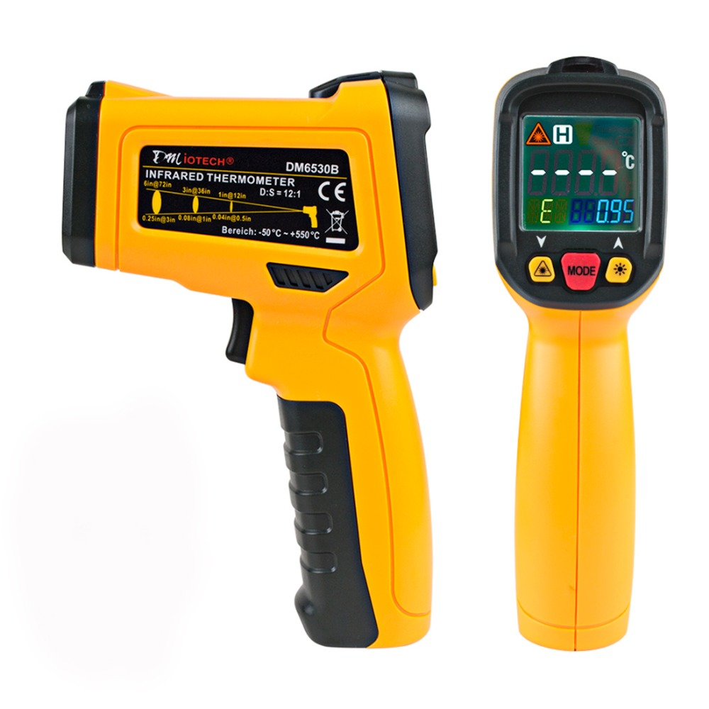 -50-550 C Digital Infrared Thermometer LCD Non-contact Aquarium Laser Point Gun Pyrometer IR Temperature Meter<br>