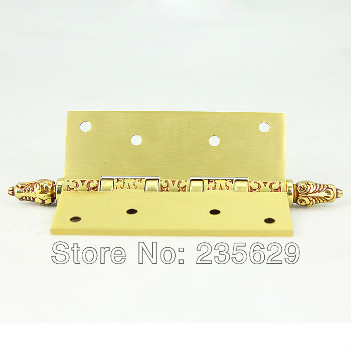 Free Shipping, brass Hinges for timber door / Metal Door, 3mm thickness, Low Noise,claret-red Color<br>