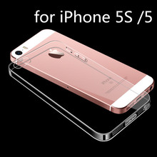 Clear Case for Apple iPhone 5S 5 SE 6 6S 6Plus 7 7Plus Transparent Silicone Soft Protective Cover All Falling + Dust Plug