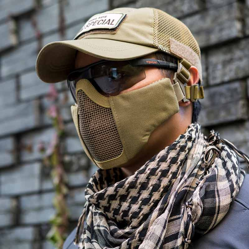 Airsoft Full Face Mask Steel Mesh Goggles War Steel Mesh Skull Tactical Paint GN