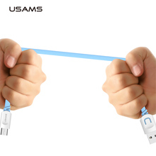 USAMS Micro Usb cable original data cable 1m Mobile Phone Accessories microusb Cables for samsung xiaomi Mobile Phone Cables(China)