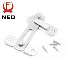 NED 304 Stainless Steel Hasp Latch Lock Sliding Door Simple Convenience Window Cabinet Locks For Home Hotel  Door Security