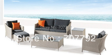 New Desgin!modern balconies wicker rattan furniture Five Piece Wicker Conversation Set