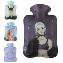 MENGXIANG 1PCS Portable Cartoon Flowers Hot Water Bag for Hand Feet Cool Winter Warmer Bags Warming Bottles Hot Water Bottle(China)